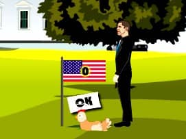Juego Obama vs Romney Pateado la Gallina