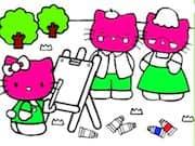 Juego Pintar a Hello Kitty - Pintar a Hello Kitty online gratis, jugar Gratis