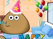 Juego Pou Birthday Party