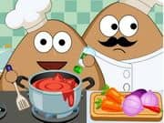 Juego Pou Kitchen Slacking