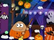 Juego Pou Limpieza para Halloween