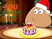 Juego Pou Pastel de Navidad