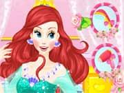 Juego Princesa Ariel Estilo de Cabello para su Boda