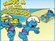 Juego Puzzle Pitufos en la Playa