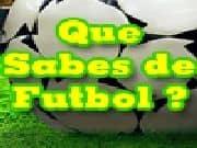 Juego Que Sabes de Futbol - Que Sabes de Futbol online gratis, jugar Gratis