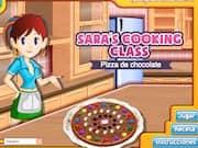 Juego Sara Cocina una Pizza de Chocolate