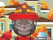 Juego Talking Tom Cat Bombero