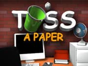 Juego Toss a paper