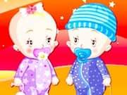 Juego Vestir a Bebes Gemelos