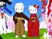 Juego Vestir a la familia Hello Kitty
