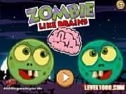 Juego Zombie Come Cerebros - Zombie Come Cerebros online gratis, jugar Gratis