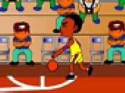 Juego basketball en el colegio
